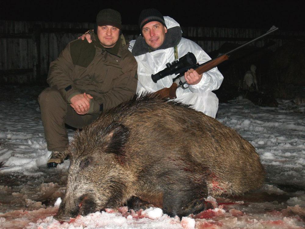 Охота на кабана и лося декабрь 2006г.  (Удмуртия). предыдущая.